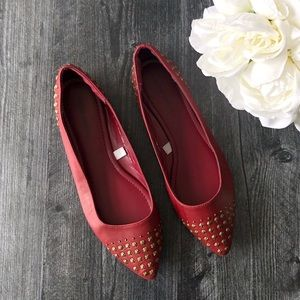 Mossimo Supply Co • Maroon embellished flats